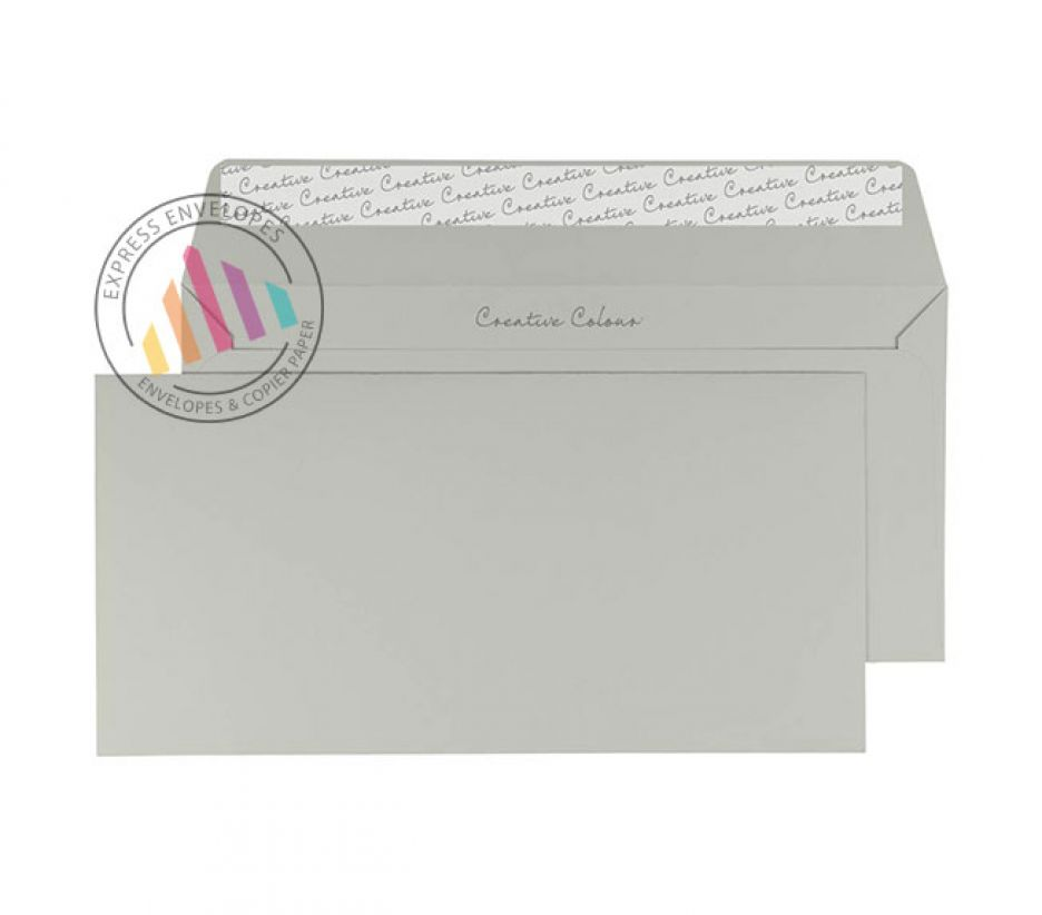 DL+ - French Grey Envelopes - 120gsm - Non Window - Peel and Seal