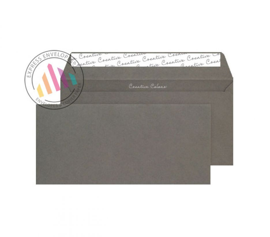 DL+ - Graphite Grey Envelopes - 120sgm - Non Window - Peel and Seal