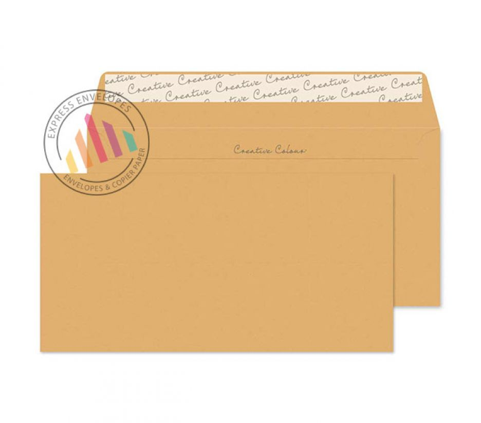 DL+ - Biscuit Beige Envelopes - 120gsm - Non Window - Peel and Seal