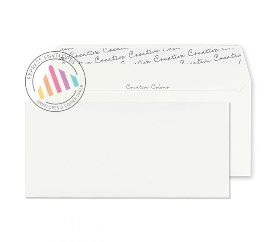DL+ - Milk White Envelopes - 120gsm - Non Window - Peel and Seal