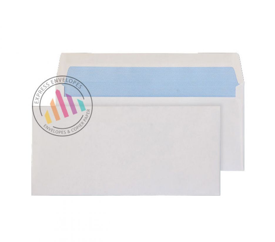 89×152mm - White Commercial Envelopes - 80gsm - Non Window - Gummed
