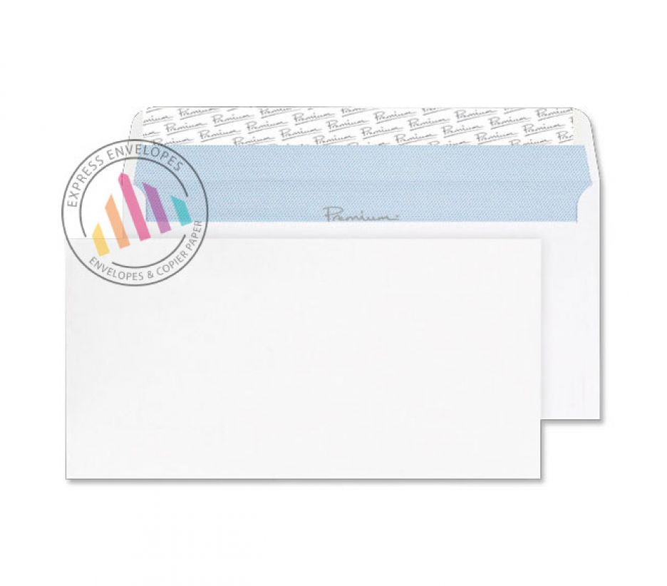 DL - Ultra White Wove Envelopes - 120gsm - Non Window - Peel and seal