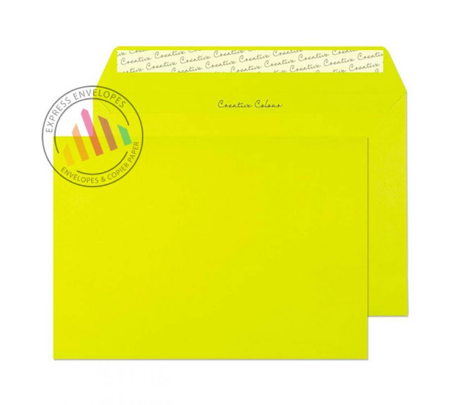 C5 - Acid Green Envelopes - 120gsm - Non Window - Peel and Seal