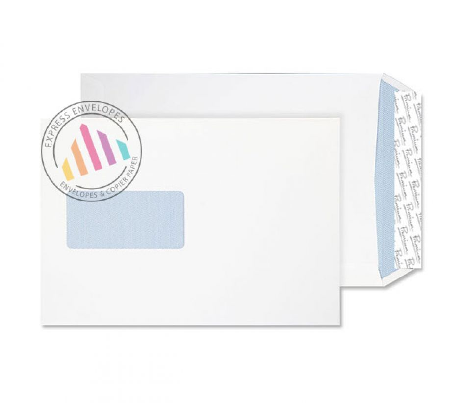C5 - Ultra White Wove Gusset Envelopes - 140gsm - Window - Peel and Seal