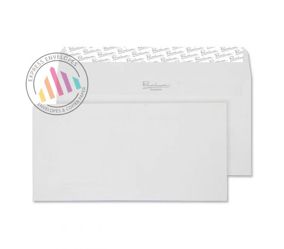 DL - High White Wove Envelopes - 120gsm - Non Window - Peel and Seal