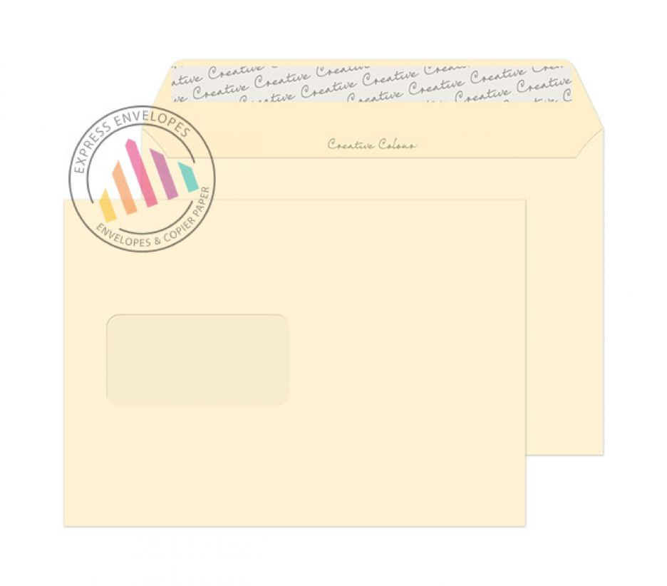 C5 - Clotted Cream Envelopes - 120gsm - Window - Peel and Seal