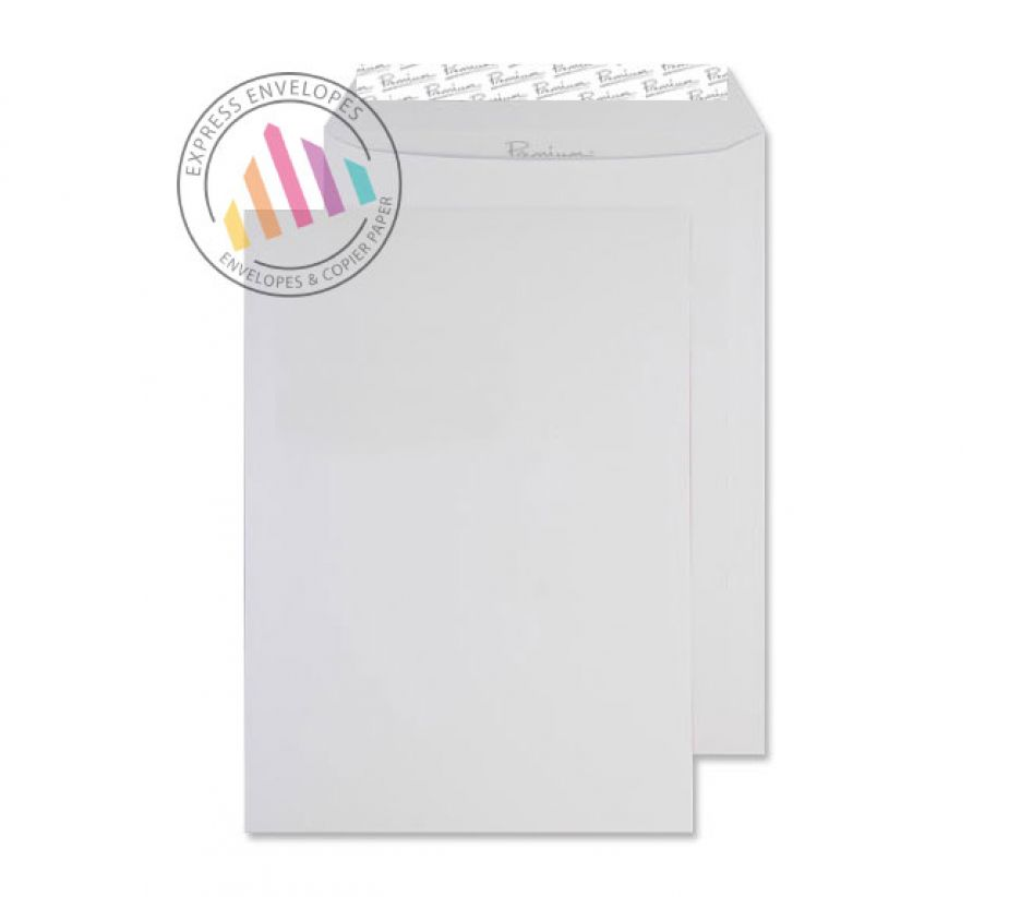 C4 - Smooth Diamond White Envelopes - 120gsm - Non Window - Peel and Seal