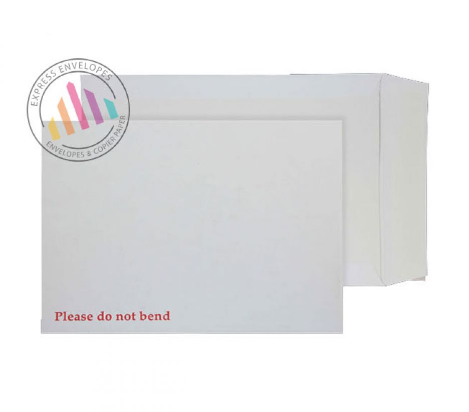 241 x 178mm - White Board Back Envelopes - 120gsm - Non Window - Peel and Seal