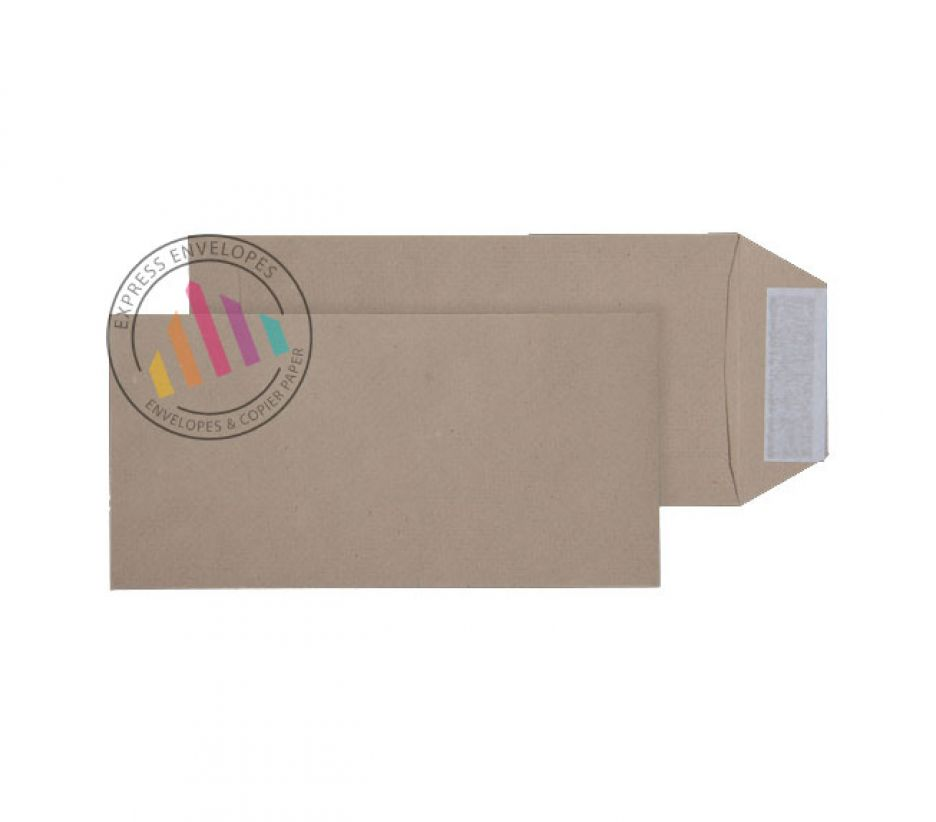 DL - Manilla Commercial Envelopes - 115gsm - Non Window - Peel & Seal