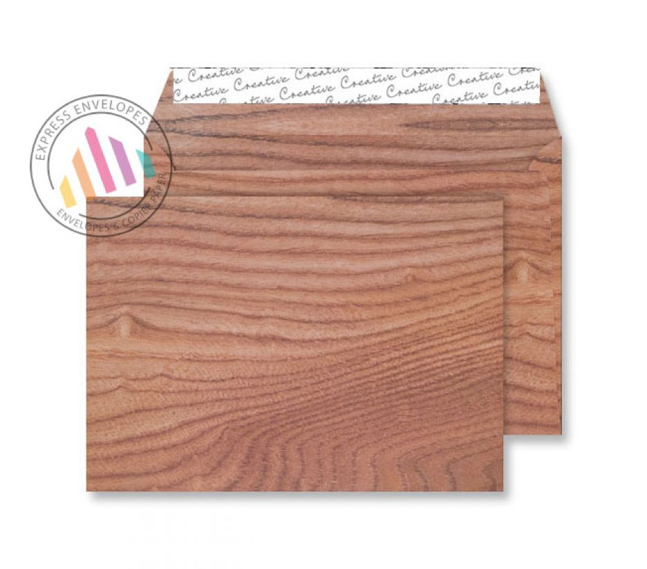 C5 - Polished Oak Envelopes - 135gsm - Non Window - Peel and Seal