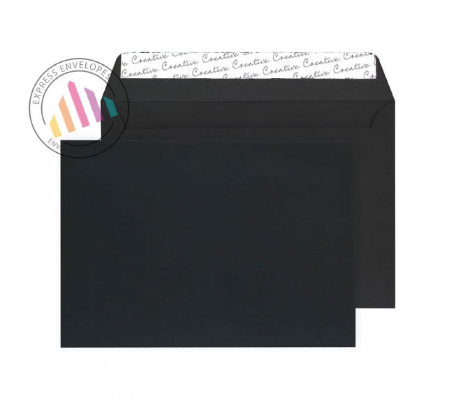 C5 - Velvet Black Envelopes 162×229mm - Small Pack