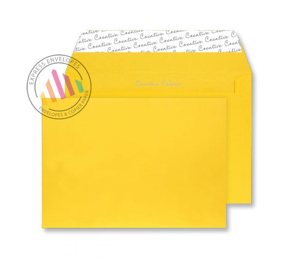 C5 - Egg Yellow Envelopes - 120gsm - Non Window - Peel and Seal
