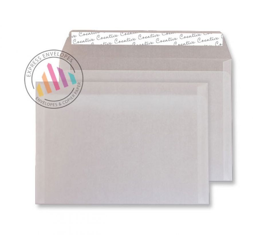 C5 - Translucent White Envelopes - 110gsm - Non Window - Peel and Seal