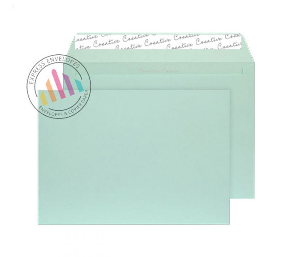 C5 - Spearmint Green Envelopes - 120gsm - Non Window - Peel and Seal