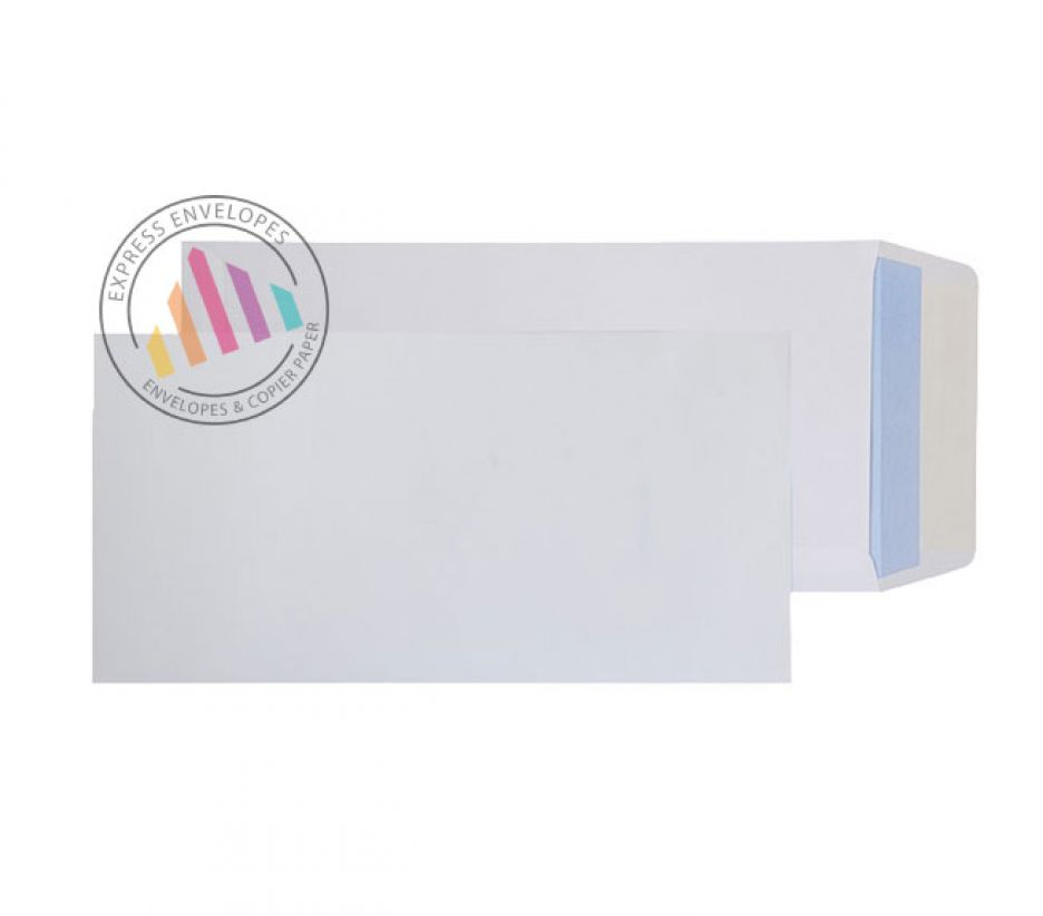 305 x 152 - White Commercial Envelopes - 100gsm - Non Window - Peel & Seal