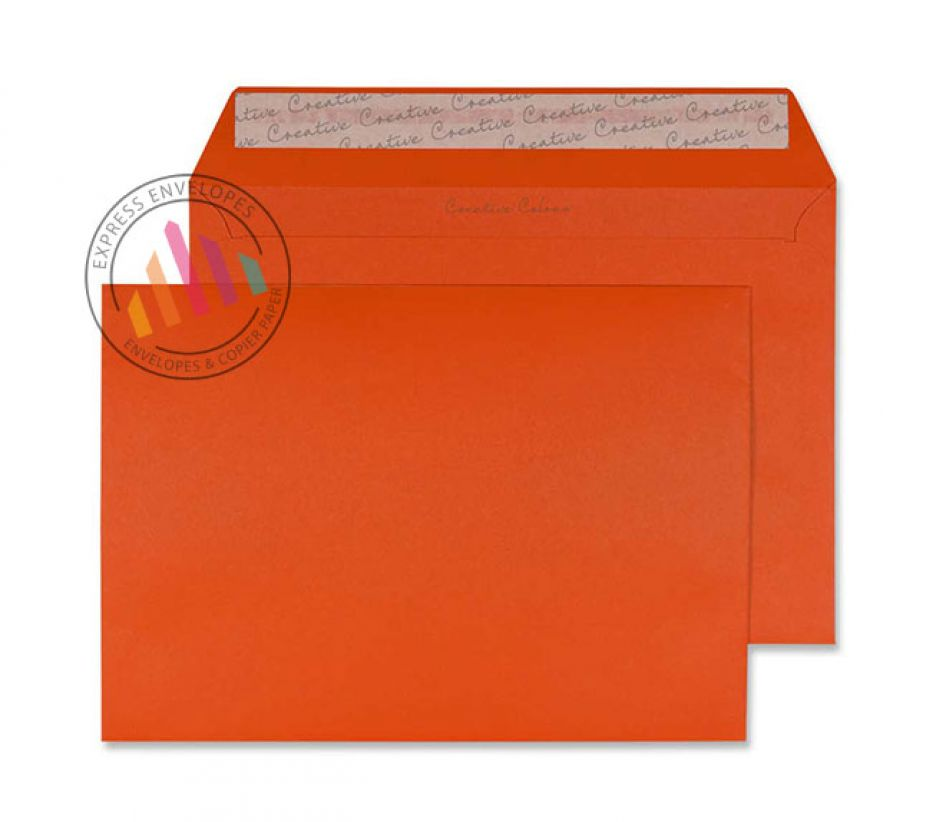 C5 - Marmalade Orange Envelopes - 120gsm - Non Window - Peel and Seal