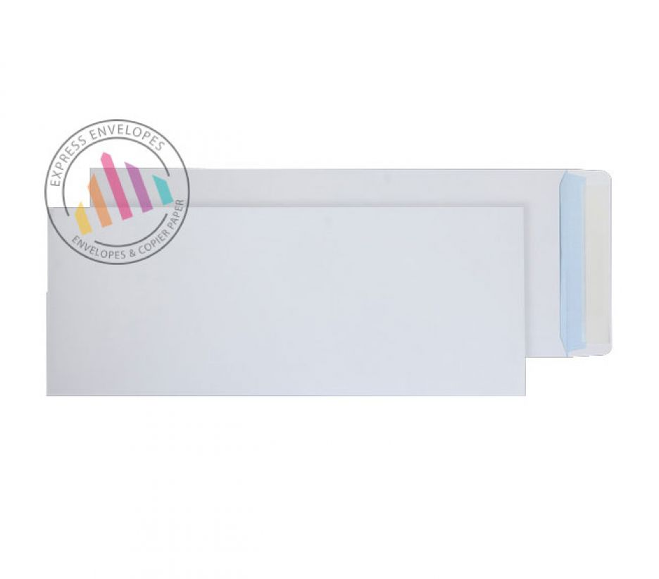 430 x 162mm - White Commercial Envelopes - 120gsm - Non Window - Peel & Seal