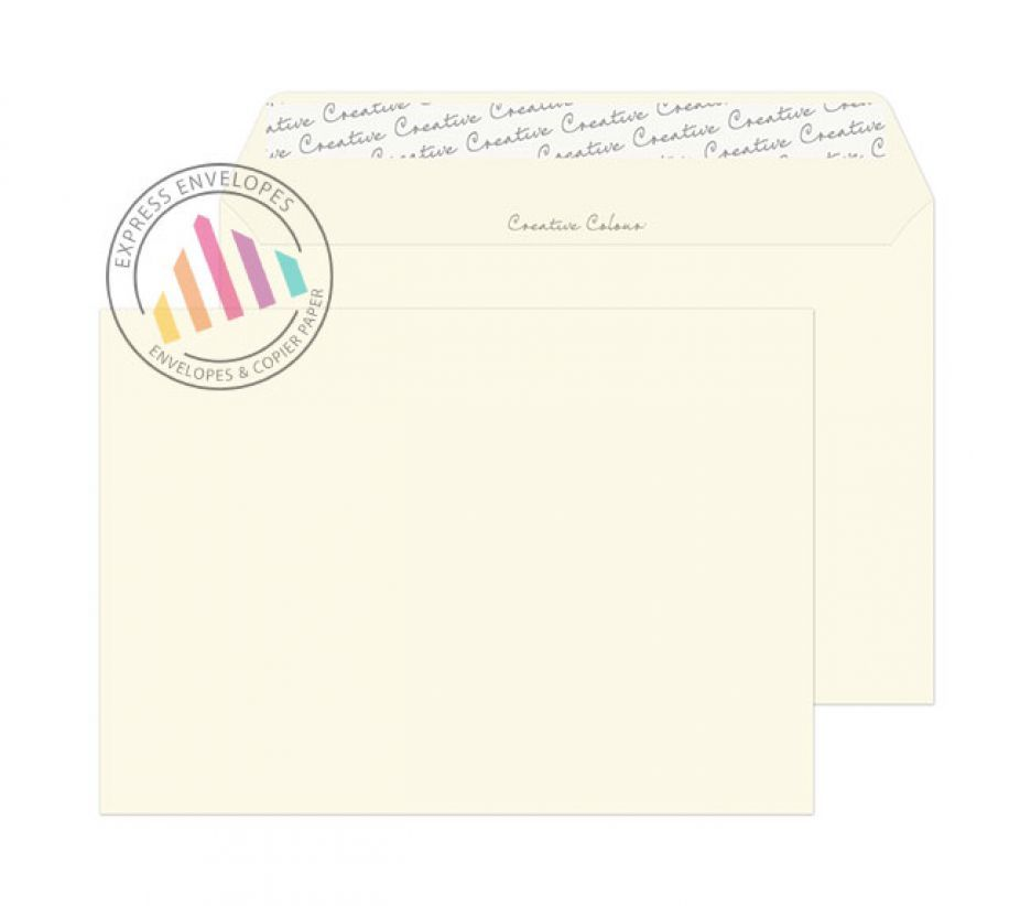 C5 - Soft Ivory Envelopes - 120gsm - Non Window - Peel and Seal