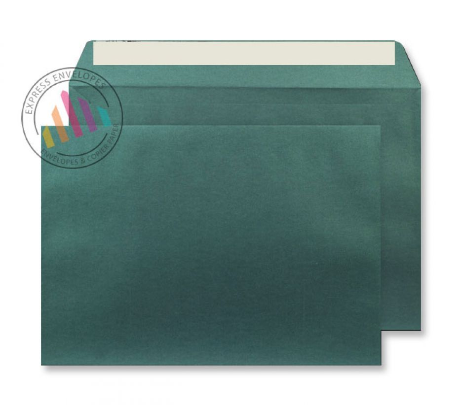 C5 - Forest Green Envelopes - 120gsm - Non Window - Peel and Seal