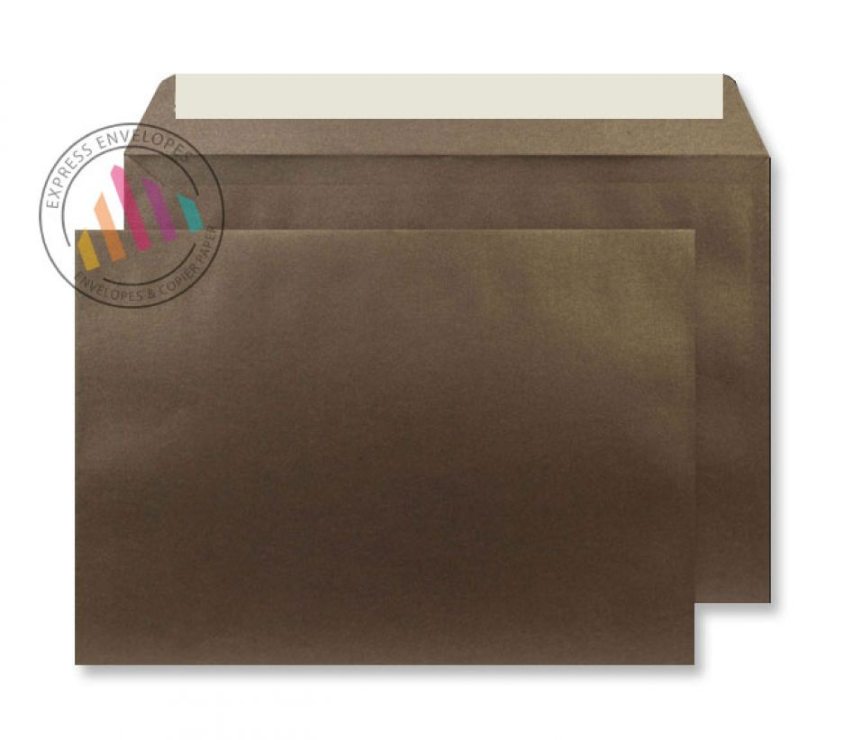 C5 - Antique Bronze Envelopes - 120gsm - Non Window - Peel and Seal