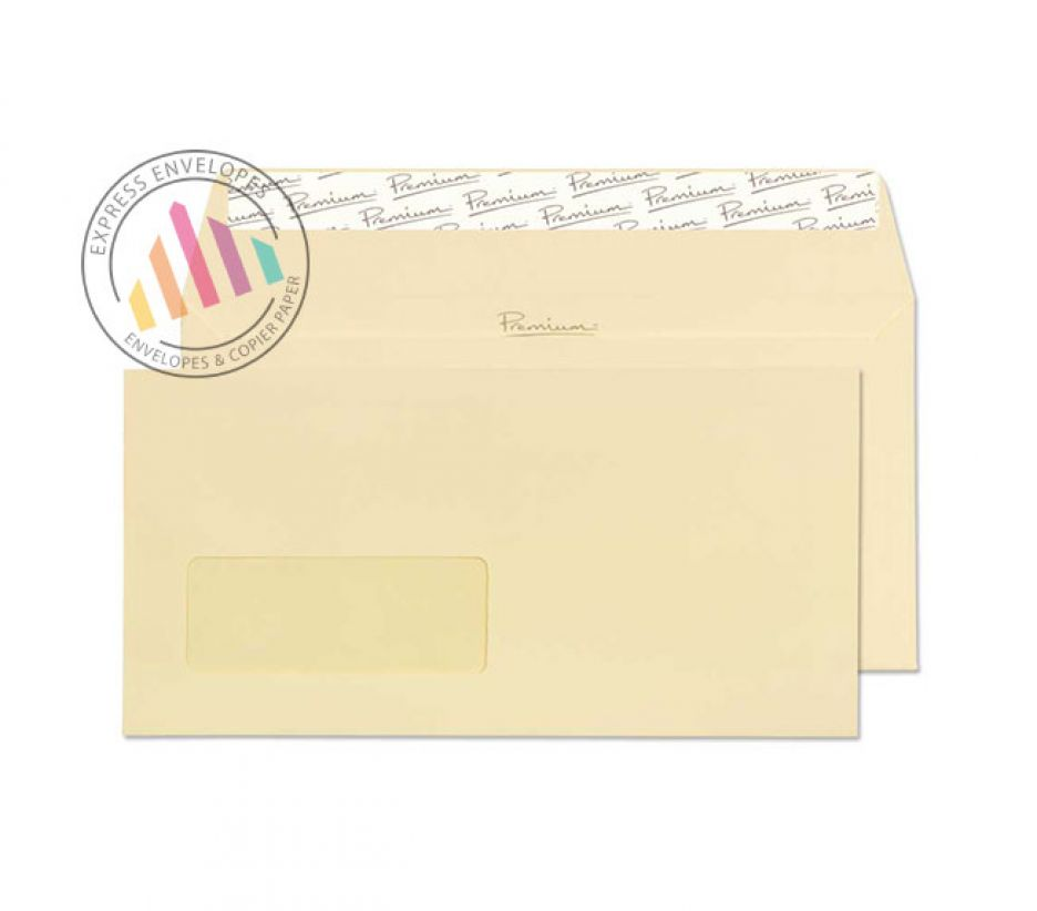 DL - Vellum Wove Envelopes -120gsm - Window - Peel and Seal
