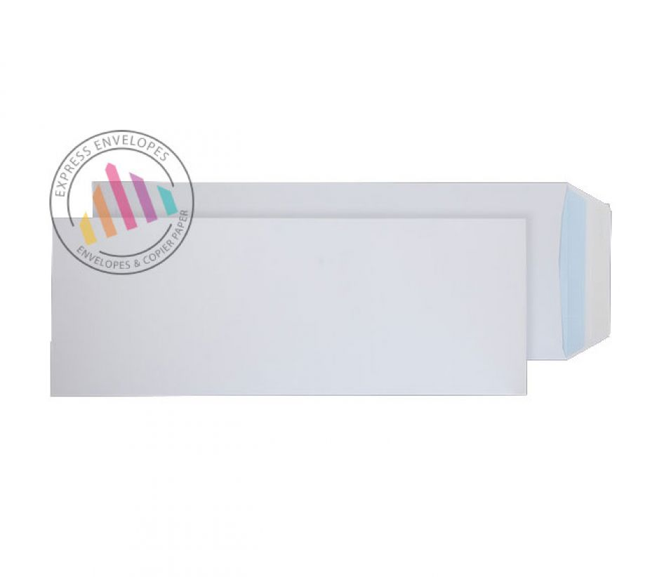 381 x 152mm - White Commercial  Envelopes - 120gsm - Non Window - Peel & Seal