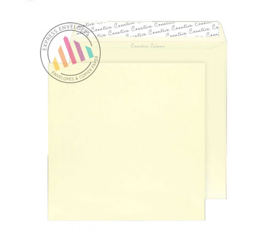 220×220mm - Clotted Cream Envelopes - 120gsm - Non Window - Peel and Seal