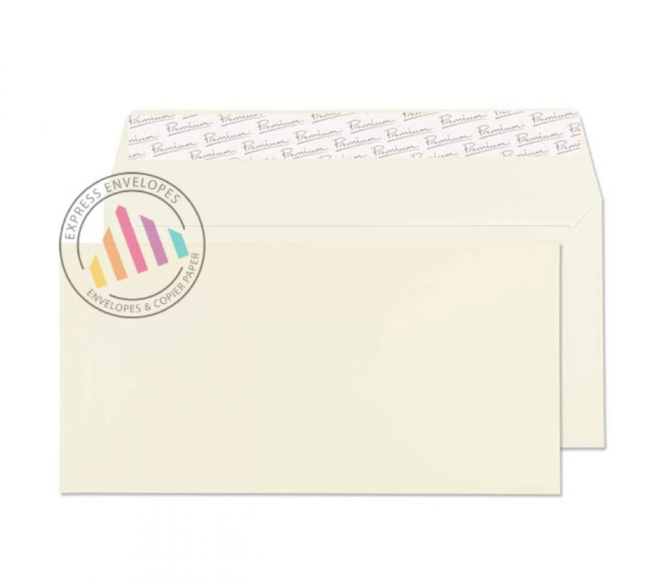 DL - Oyster Wove Envelopes - 120gsm - Non Window - Peel and Seal