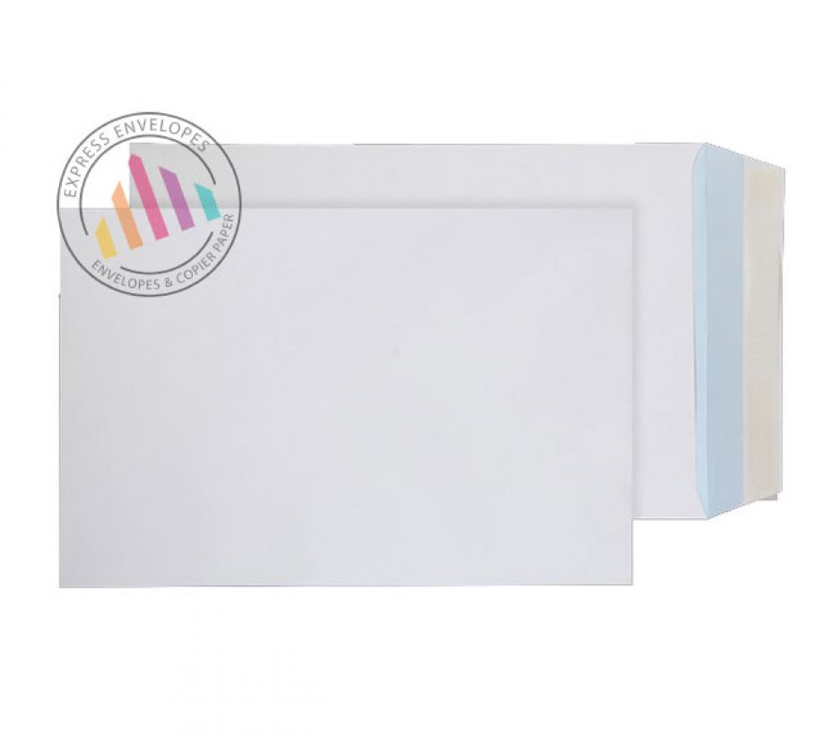 381 x 254 - White Commercial Envelopes - 120gsm - Non Window - Peel & Seal