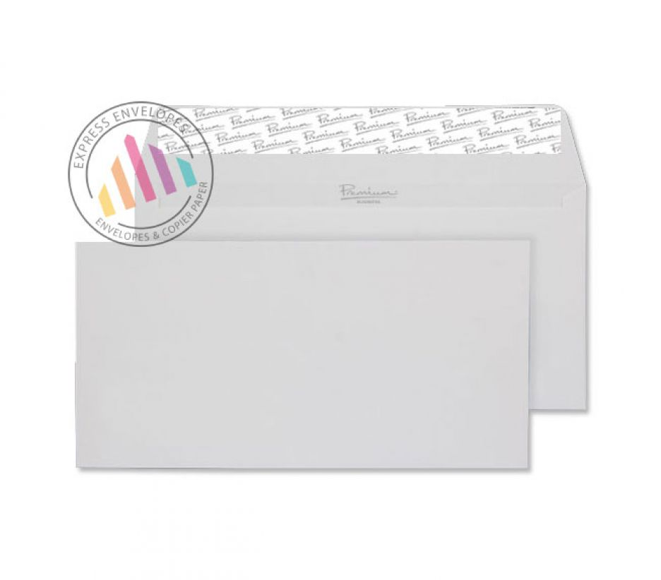 DL - Diamond White Laid Envelopes - 120gsm - Non Window - Peel and Seal