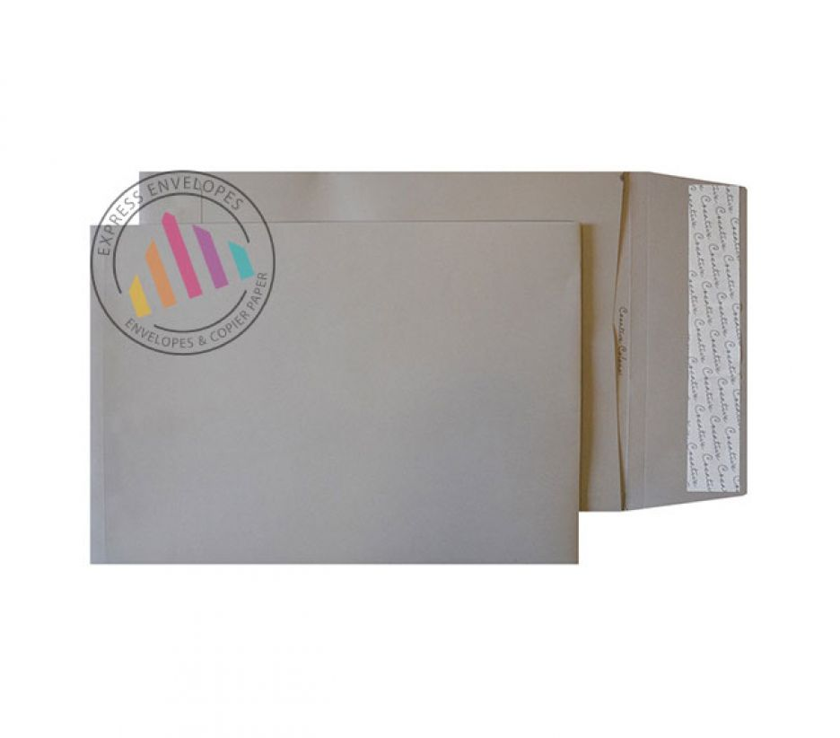 C4 - Storm Grey Gusset Envelopes - 140gsm - Non Window - Peel and Seal