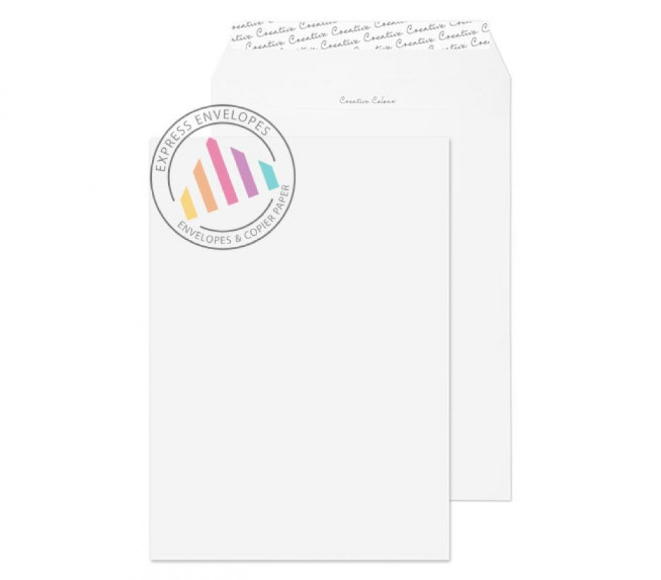 C4 - Ice White Envelopes - 120gsm - Non Window - Peel and Seal