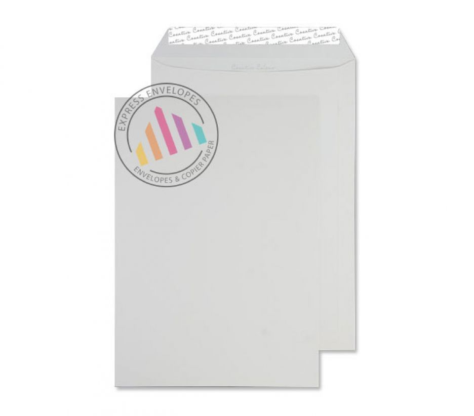 C4 - Milk White Envelopes - 120gsm - Non Window - Peel and Seal