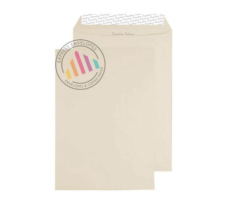 C4 - Soft Ivory Envelopes - 120gsm - Non Window - Peel and Seal