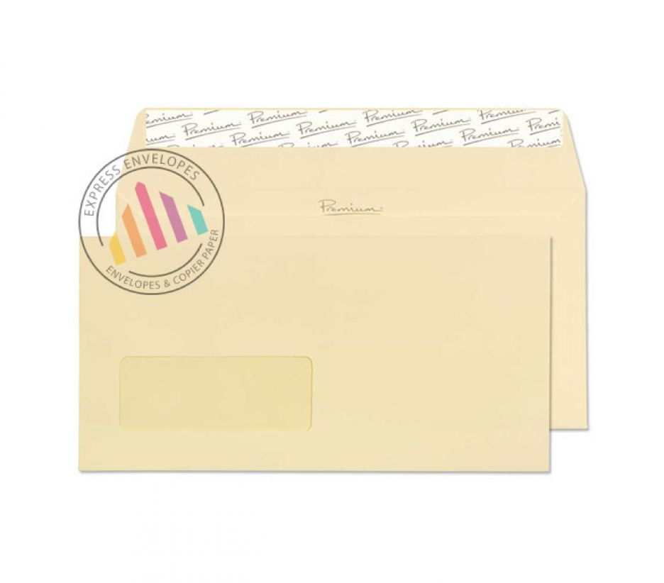 DL - Vellum Laid Envelopes - 120gsm - Window - Peel and Seal