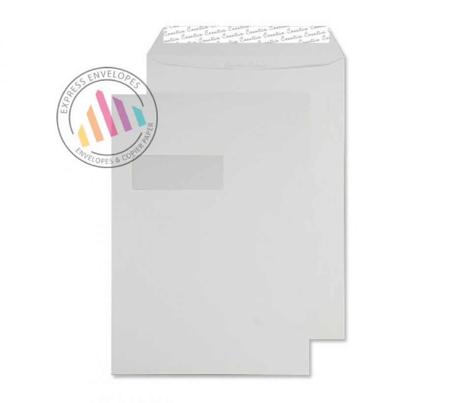 C4 - Clotted Cream Envelopes - 120gsm - Window - Peel and Seal