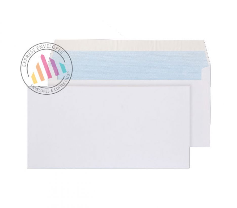 DL - White Commercial Envelope - 100gsm - Non Window - Peel & Seal