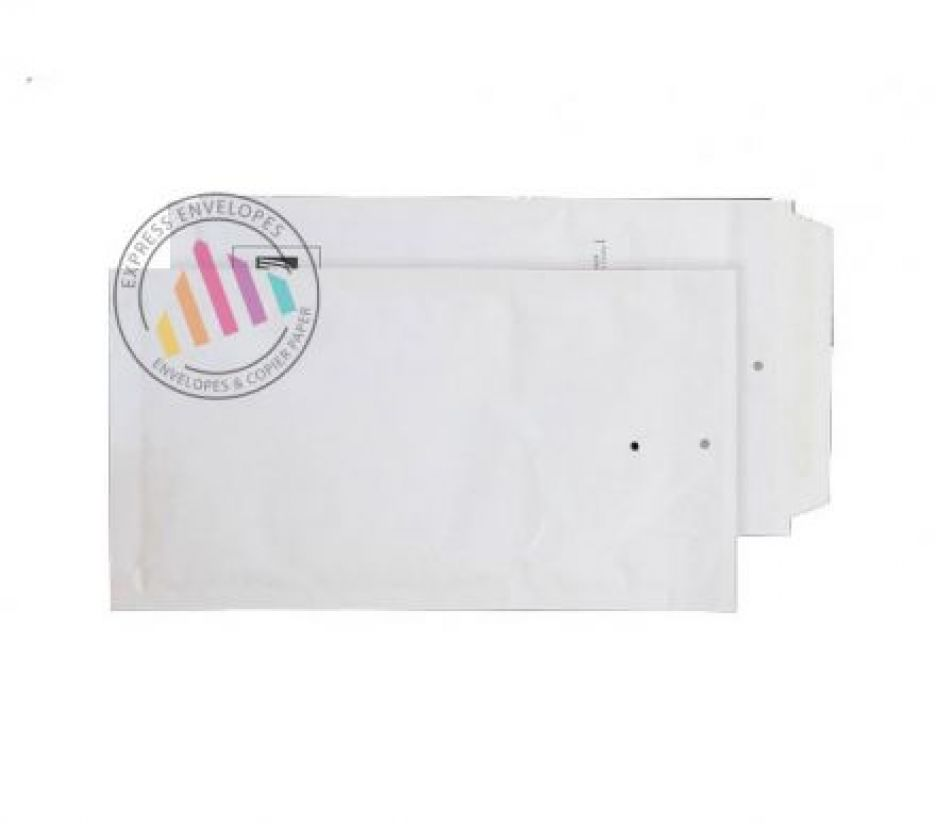 220×120mm - White Padded Bubble Envelopes - Peel and Seal