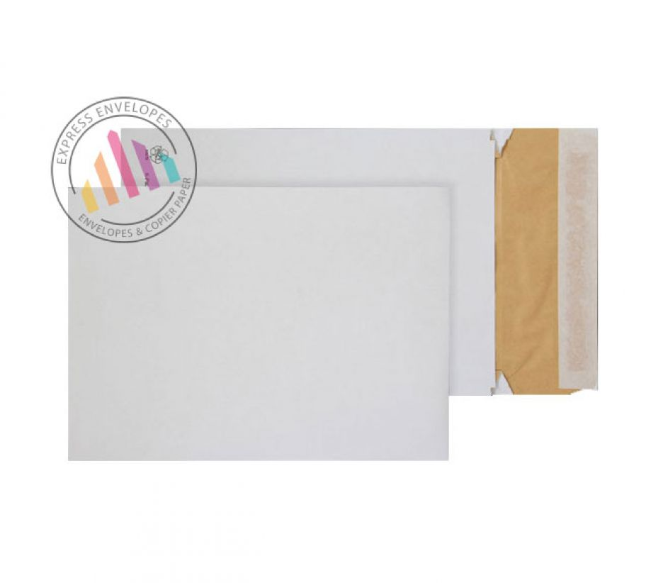 B4 - White Eco Cushion Padded Gusset Envelopes - 140gsm - Peel and Seal