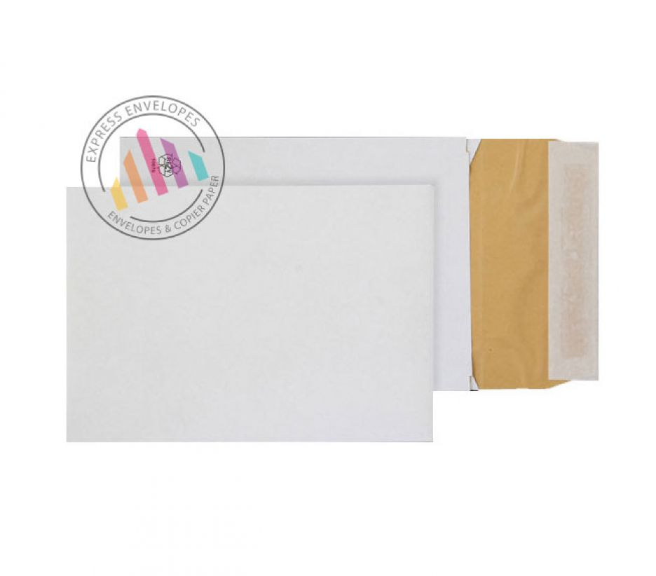 C5 - White Eco Cushion Padded Gusset Envelopes - 140gsm - Peel and Seal