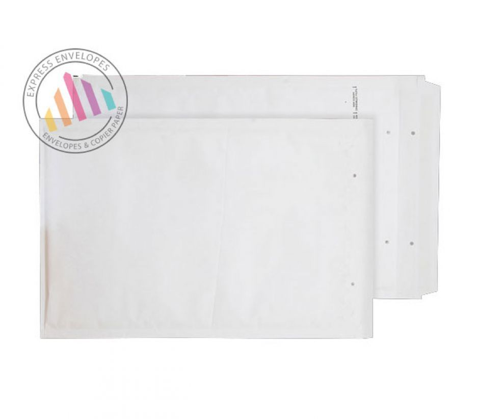 470×345mm - White Padded Bubble Pocket - Peel and Seal