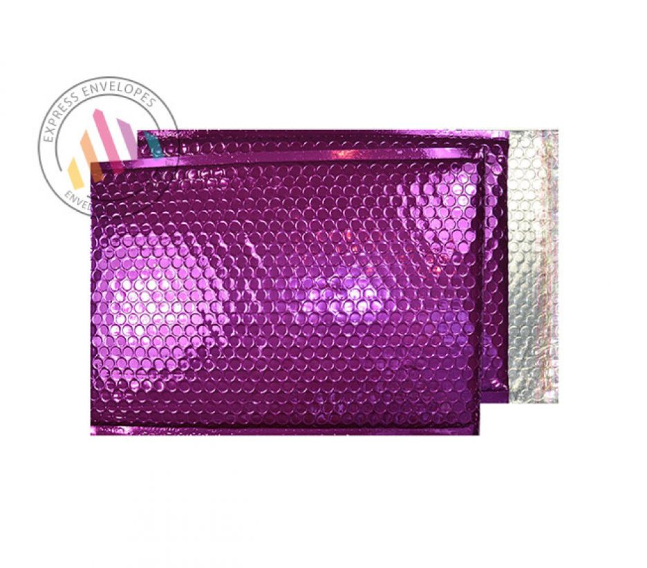 C5+ - Purple Grape Padded Bubble Envelopes- Peel and Seal