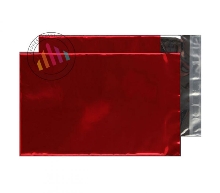 C5 - Metallic Red Foil Envelopes - 70µm - Peel and Seal