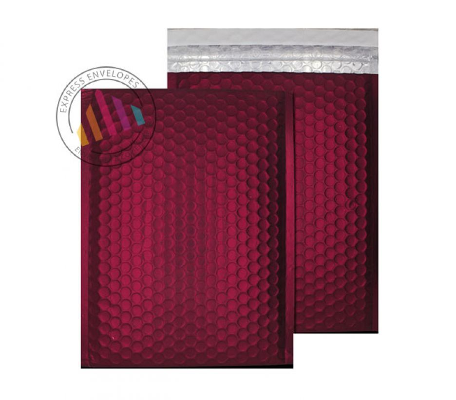 C5+ - Mulled Wine Padded Bubble Envelopes - Peel and Seal