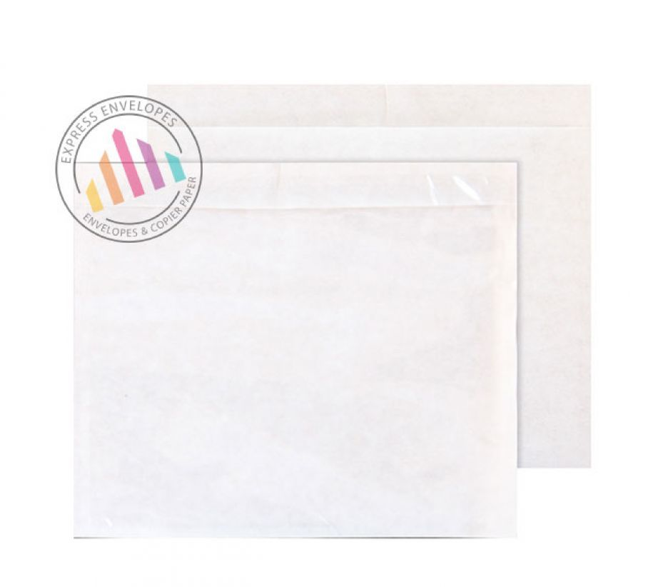 C7 - Clear Polythene Envelopes - Window - Peel and Seal