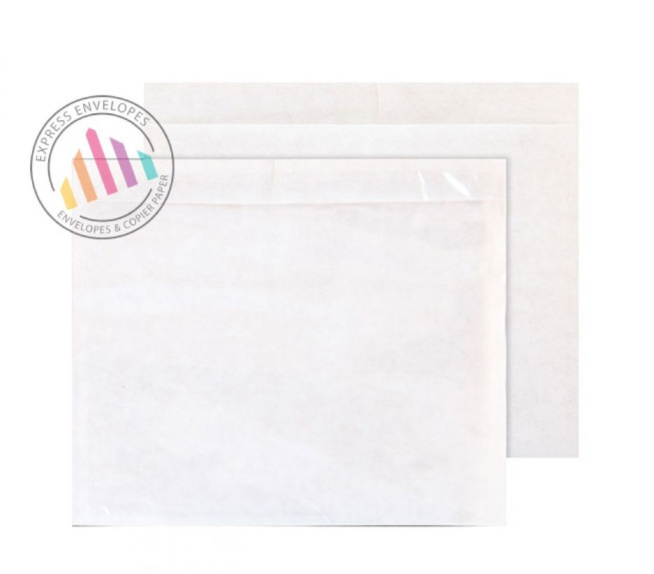 C6 - Clear Polythene Envelopes - Window - Peel and Seal
