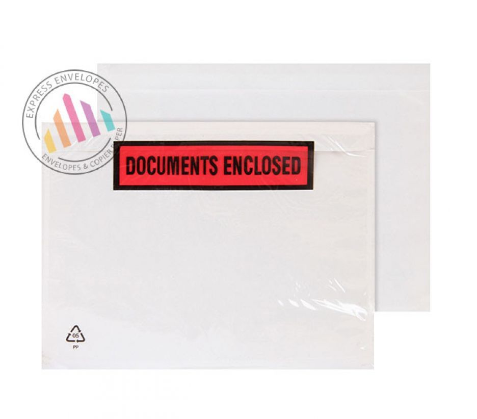 C6 -  Clear Polythene Envelopes - 50µm - Window - Peal and Seal