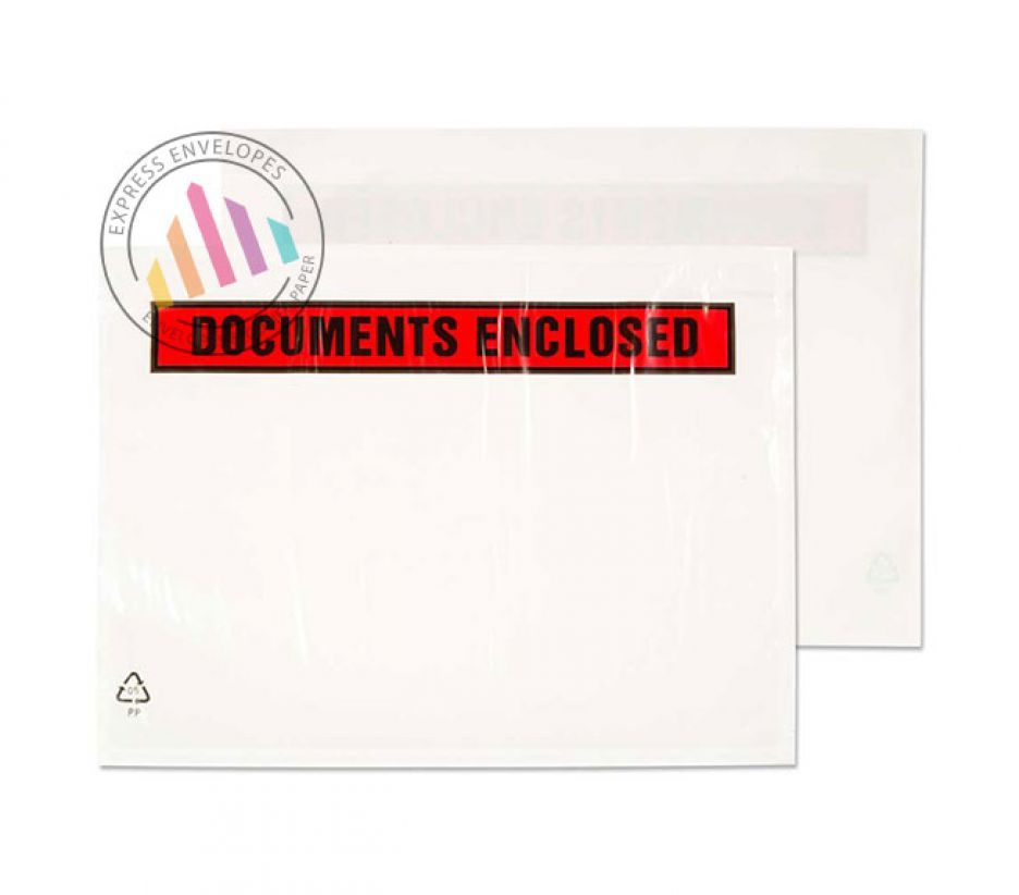 DL - Clear Polythene Envelopes - Window - Peel and Seal