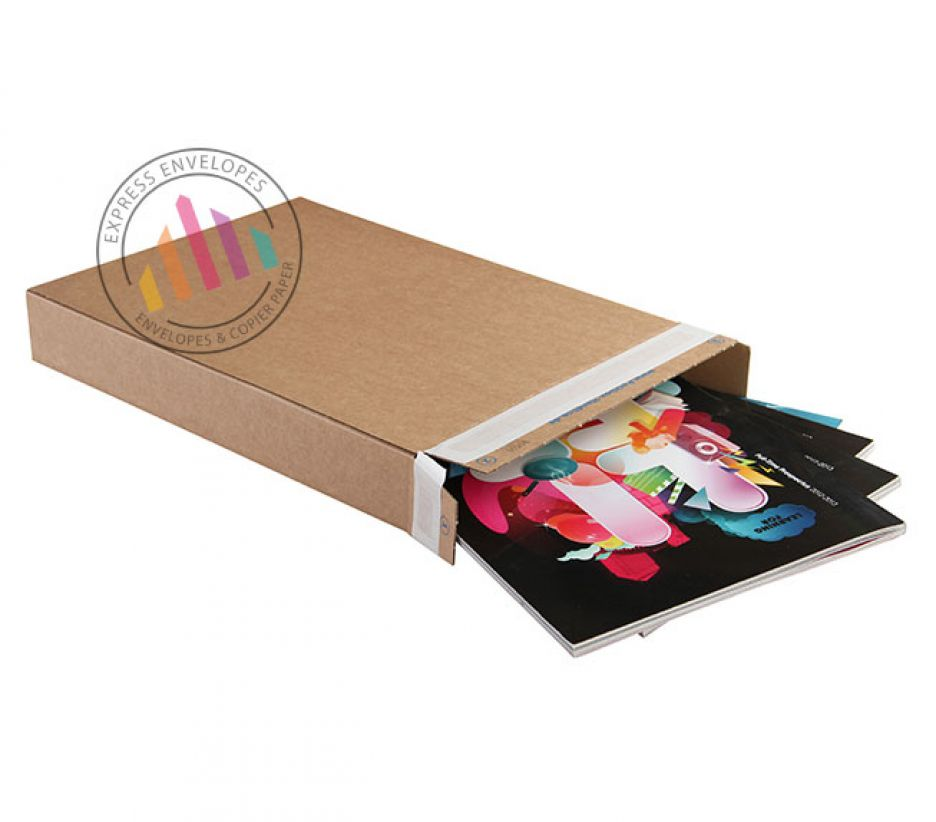 240×165×46mm - Kraft Carton Box - Peel and Seal