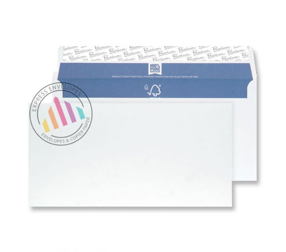 DL- Super White Wove Envelopes - 120gsm - Non Window - Peel and Seal